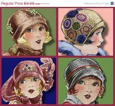 Vintage 1920 crochet Cloche Hat- Must See!!