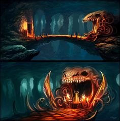 2 Environment Concepts by *andreasrocha on deviantART