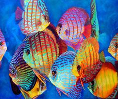 Curious Discus. Original available 30x36 Price on Request www.michelinehadjis.com www.exoticfantasygallery.com