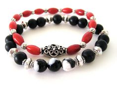 Beaded stretch bracelets handmade bracelets by Rock  Hardware Jewelry