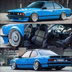 BMW E24 6 series blue