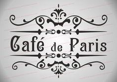 Stencil Shabby Chic Furniture Fabric French Vintage Café DE Paris A4 | eBay