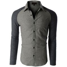 Mens Trendy Slim Fit Long Sleeve Button Down Flannel Shirt ($24) ❤ liked on Polyvore featuring mens, men's clothing, men's shirts и men's casual shirts