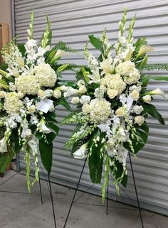 White Standing Spray - Flora Funeral (Flowers Are Happy) Casket Flowers, Grave Flowers, Cemetery Flowers, Church Flowers, Funeral Spray Flowers, Funeral Sprays, Condolence Flowers, Sympathy Flowers, Funeral Floral Arrangements
