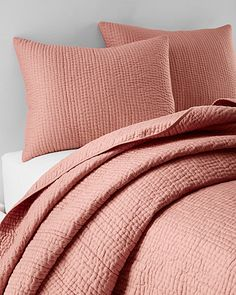 Eileen Fisher Rippled Organic Cotton Coverlet and Shams | Erika ... : organic quilts and coverlets - Adamdwight.com