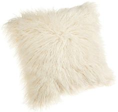 Brentwood Mongolian Faux Fur Pillow, White, Fluffy Bedding Throw Pillow in Home & Garden, Home Décor, Pillows Fur Pillow, Throw Pillow Cases, Pillow Covers, Knot Pillow, Chair Pillow, Bed Sofa, Couch Pillows, Fluffy Bedding, Fluffy Pillows