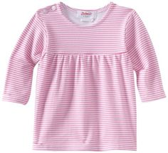 Zutano Baby Girls Candy Stripe Peasant Top Hot Pink 6 Months *** Read more at the image link. (This is an affiliate link) #BabyGirlTops