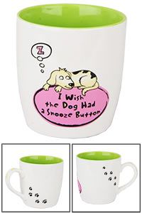 Dog Snooze Button Grande Mug at The Animal Rescue Site