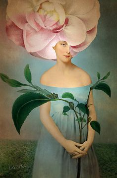⊰ Posing with Posies ⊱ paintings & illustrations of women & children with flowers - Camille by Catrin Welz Stein Fantasy Kunst, Fantasy Art, Photografy Art, Illustrator, Art Du Collage, Image Collage, Art Fantaisiste, L'art Du Portrait, Portraits
