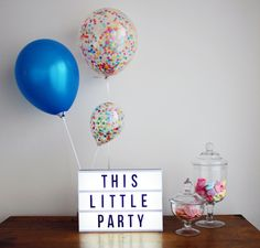 Confetti Balloons Rainbow Party Decoration 28cm (pack of 3). Colourful birthday party polka dot fun! by ThisLittleParty on Etsy