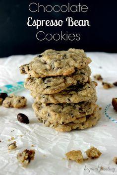 Chocolate Espresso Bean Cookies | beyondfrosting.wordpress.com | #cookies #espresso
