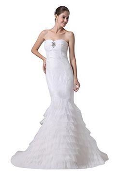 Zrdress White Organza Long Mermaid Wedding Dresses Sleeveless Backless Bridal Gowns Custom Plus US2 Zrdress http://www.amazon.com/dp/B00Z07AG48/ref=cm_sw_r_pi_dp_Xu0Mvb0X96YGQ