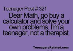 : P  Math has problems