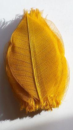 Folhas Esqueleto - Amarelo  ***Disponível para Venda