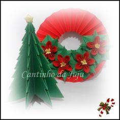 Kit natalino Guirlanda + árvore de natal com a técnica de origami.    Aproveite, antecipe suas compras e garanta sua decoração!  www.cantinhodajuju.com.br