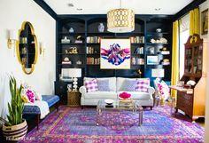 {One Room Challenge} The Living Room Reveal with Rugs USA's Surya Zahra ZHA4001 Rug!