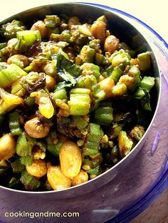 Okra Fry with Peanuts