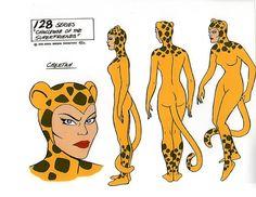 Cheetah aka Priscilla Rich | Wonder Woman | Cheetah Model Sheet from Super Friends