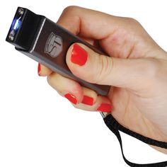 The slider stun guns features a nice LED flashlight in combination with a 10 million volts stun gun. It is the size of a flash drive but the power of a baseball bat for self defense.