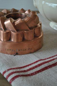 Lovely copper brioche pan.