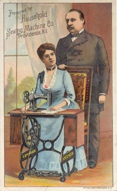 A Victorian Household Sewing Machine Co. trade card. #sewing #vintage #ephemera