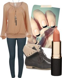 """""""Black and Tan"""" by kaitlin-2494 on Polyvore"""