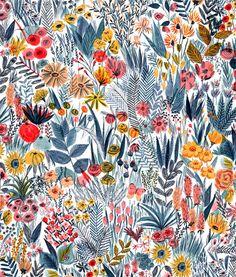 Illustration fleurie (c) Mouni Feddag Wallpaper Flower, Pattern Wallpaper, Wallpaper Backgrounds, Iphone Wallpaper, Wallpaper Ideas, Power Wallpaper, Iphone Backgrounds, Motif Floral, Art Floral