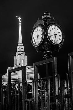 For Time And All Eternity!  The newly remodeled Ogden, Utah Temple!  This black and white image is a focus of merging mans time with God's eternal timeless families!