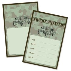 Army Party Invitations from PrintableTreats.com