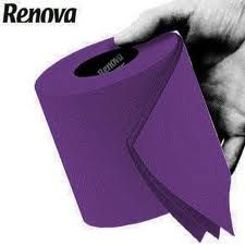 Even toilet paper comes in purple. OMG!!! I love purple but don't think I could take it this far.