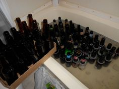 How to clean and sanitize beer bottles for home brewing using what you (probably) have around the house.
