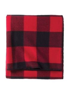 ECO-WISE WOOL PLAID/STRIPE BLANKET Size- Twin Color- Oxford Plaid AND Red/Black Check