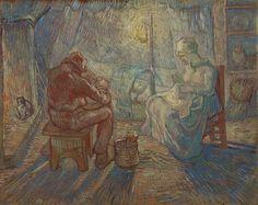 Van Gogh, Evening (after Millet), October-November 1889. Oil on canvas, 74.2 cm x 93 cm. Van Gogh Museum, Amsterdam.