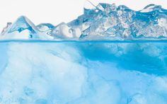 Ice blue lake