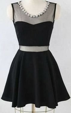 Glamorous Short Little Black Dress