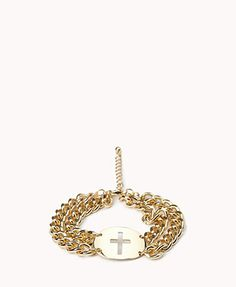 Double Chain Cross Bracelet  $5.80