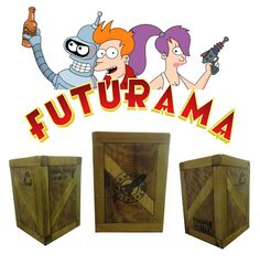 Portalápices Futurama: Planet Express Planet Express, Futurama, Bookends, Home Decor, Geek Crafts, Drawers, Hand Made, Decoration Home, Room Decor