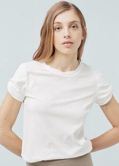 Maglietta maniche risvolto