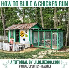 How to Build a Chicken Run – Ashley Hackshaw / Lil Blue Boo Roosting Bar ideas – Poop boards for chicken coop – oil drip pan Inside Chicken Coop, Chicken Coop Kit, Cheap Chicken Coops, Chicken Coop Decor, Portable Chicken Coop, Chicken Pen, Best Chicken Coop, Chicken Coop Designs, Backyard Chicken Coops
