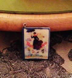 Mary Poppins Mini Book Pendant by GidgetsTreasures on Etsy #marypoppins #pltravers #minibookjewelry #minibooks #bookcharms