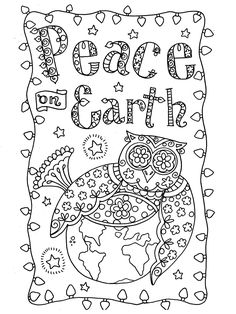 Coloring Owl Christmas Cards You Be The Artist By ChubbyMermaid