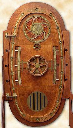 Incredible craftsmanship -- I imagine a similar door on the Steampunk Vardo of my dreams.