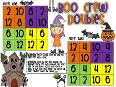 {FREEBIE} Boo Crew Doubles Math Game