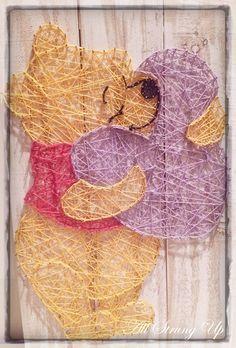 Winnie the Pooh Bear - string art