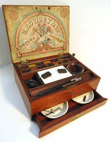 Rowney artists watercolor box. 1880s.