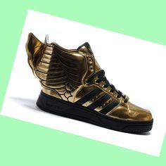 huge discount b511e 121cf Adidas Jeremy Scott Wings 2.0 Trainers Mens,Womens Gold Black,HOT SALE!