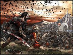 Fall of the great nation of Manetheren. From book 1, Eye of the World