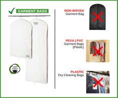If you are storing your garments in a plastic, non-woven, nylon, PEVA or plastic dry cleaning bags then these materials can have detrimental effects on your garments, long term.  Sure they protect your clothes from dust and dirt, however, these bags will cause mould, mildew, discolouration and also fade to your clothing.   Kazzi Kovers 100% Cotton Garment Bags are designed to safeguard your garments throughout the seasons so you can enjoy wearing them for years to come!