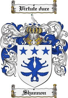 Shannon Coat of Arms Shannon Family Crest Instant Download - for sale, $7.99 at Scubbly