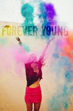 Forever Young ;; why not throw a neon paint party? ^.^